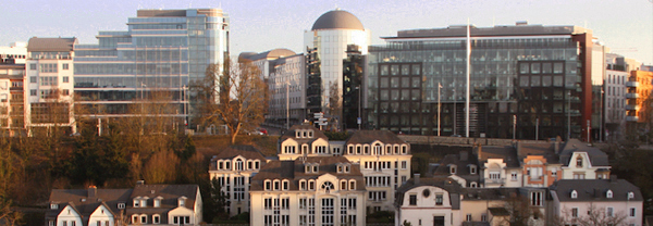 Luxembourg city center financial hub